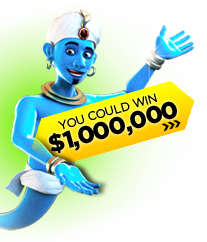 Play Millionaire Genie! You could win over a $1,000,000!