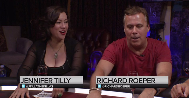 Jennifer Tilly and Richard Roeper discuss famous poker scenes