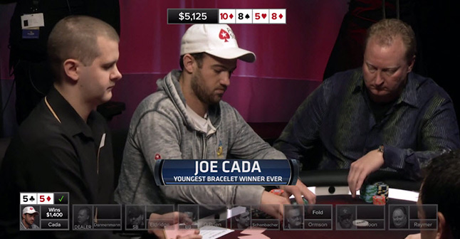 Joe Cada  - Youngest bracelet winner ever