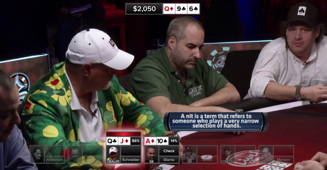 Poker Hands From Episode 12 –   Who's a Nit?