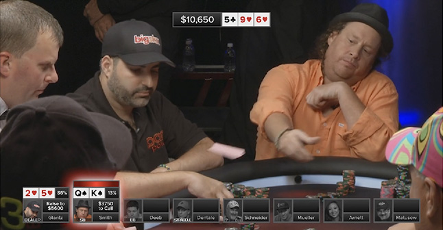 Gavin Smith folds a hand he thinks he should have won.