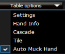 Table options