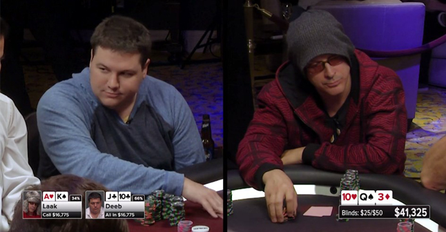 Deeb and Laak go head-to-head for the biggest pot in Poker Night in America history
