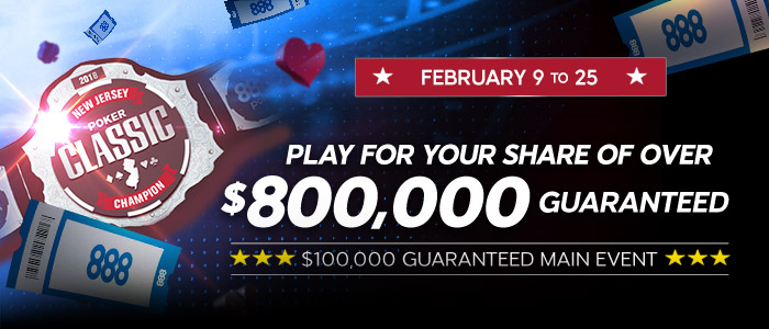 New Jersey Poker Classic Series II with over $800,000 guaranteed!