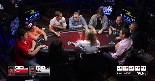 The table in heated conversation with Hellmuth