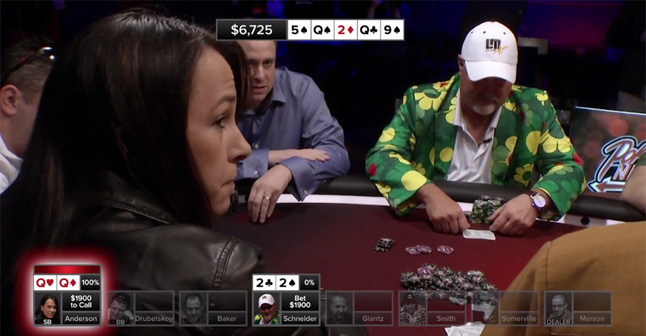 Poker Hands From Episode 10 –  First Win for Danielle Anderson
