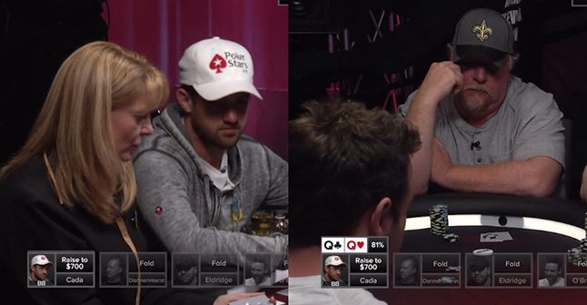 Poker hands from Episode 24  -Round 2: Cada vs. Moon