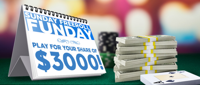 Sunday Freeroll Funday!